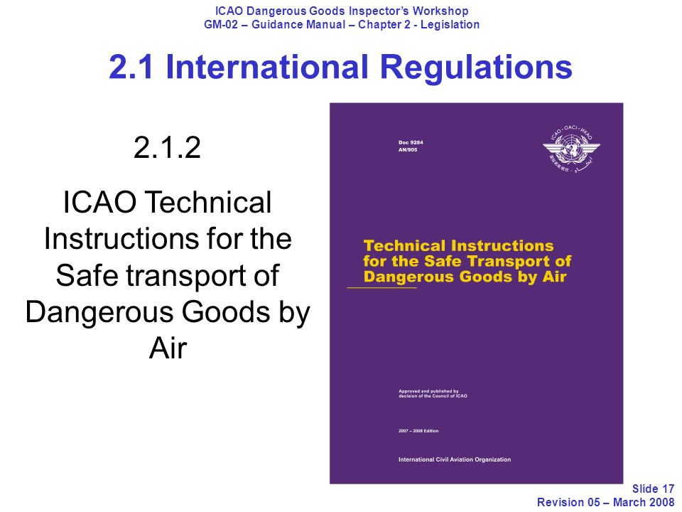 icao technical instructions dangerous goods