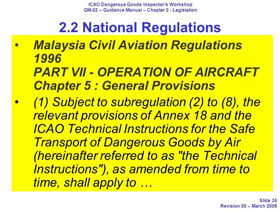 ICAO Dangerous Goods Inspector Workshop