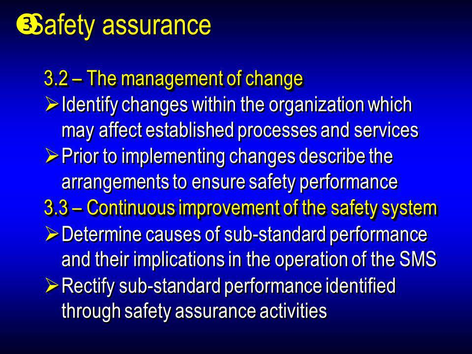 Safety assurance 3.2 – The management of change