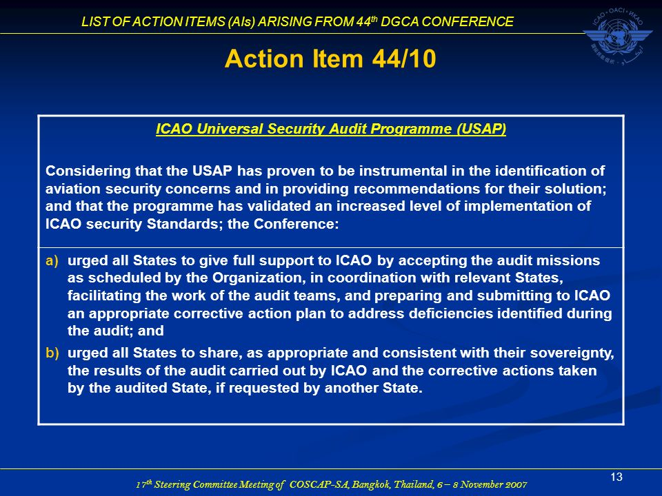 ICAO Universal Security Audit Programme (USAP)