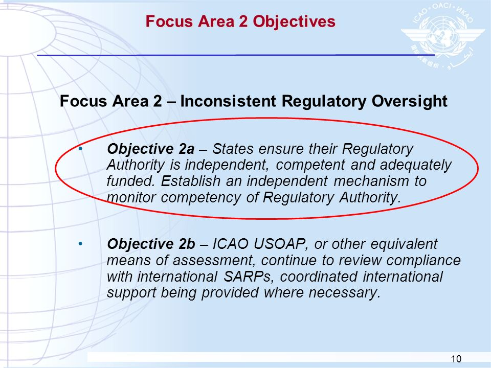 Focus Area 2 – Inconsistent Regulatory Oversight