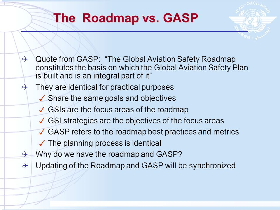 The Roadmap vs. GASP