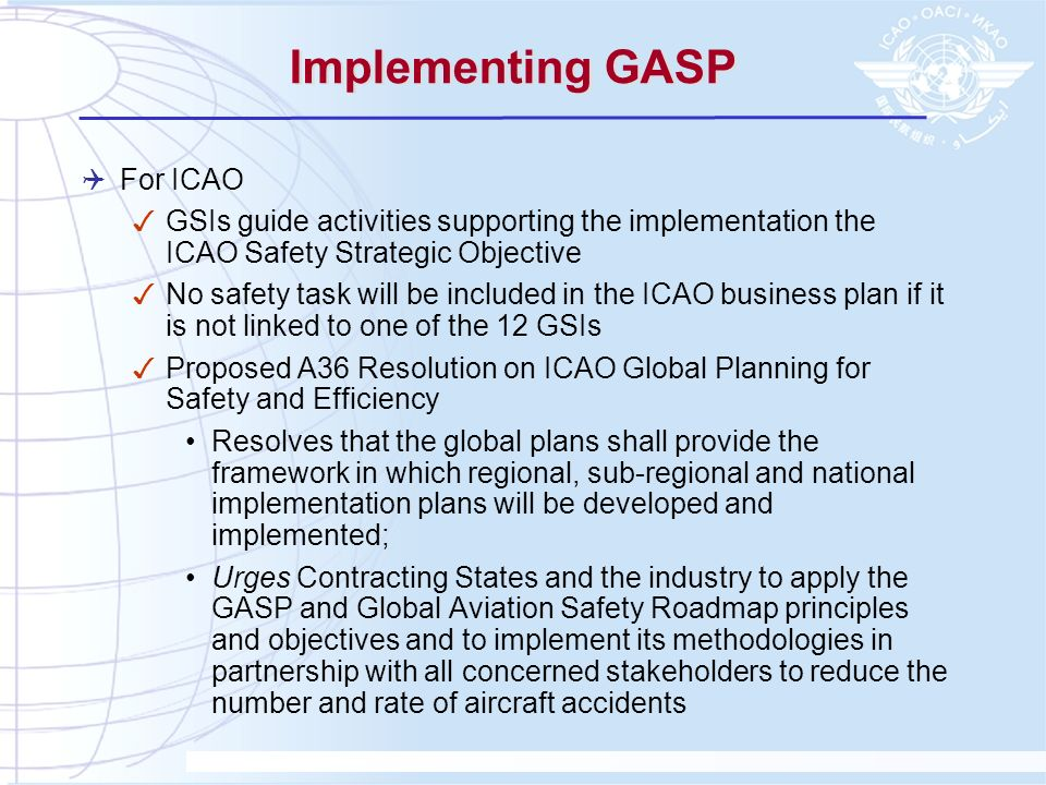 Implementing GASP For ICAO