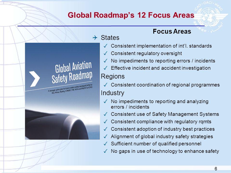 Global Roadmap's 12 Focus Areas