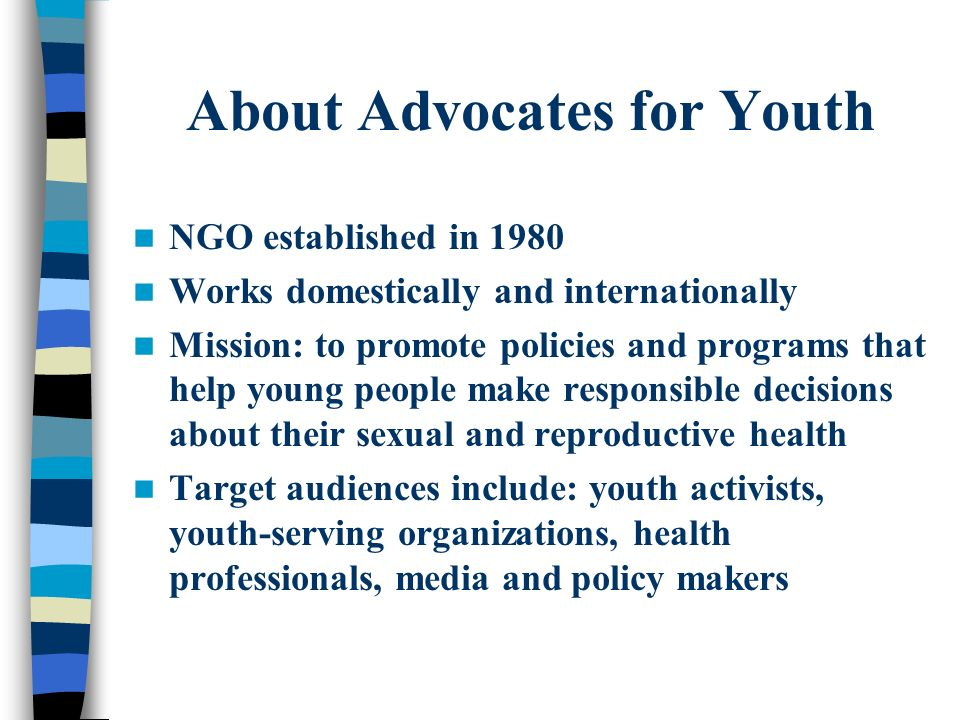 About Advocates for Youth
