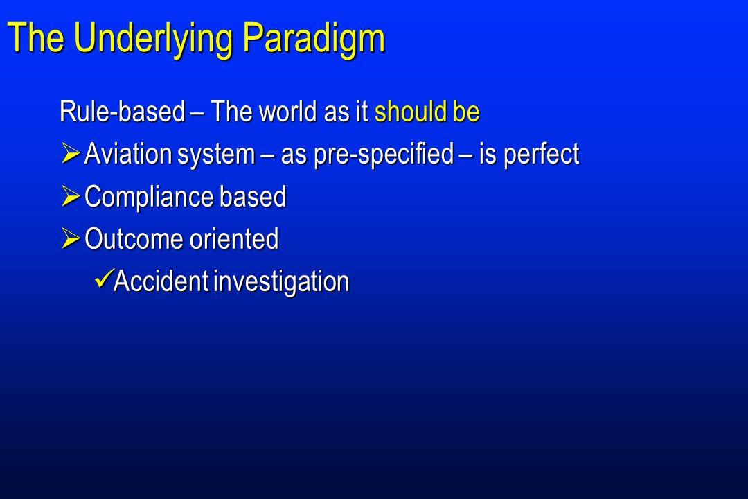 The Underlying Paradigm