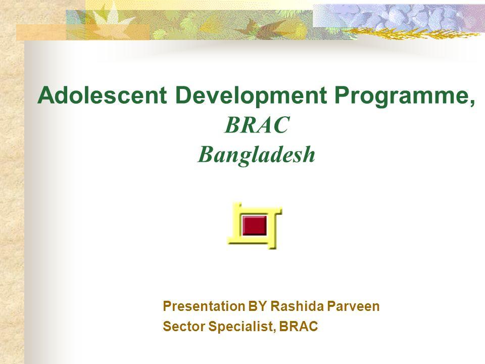 Adolescent Development Programme, BRAC Bangladesh