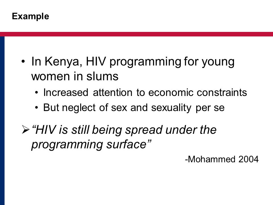In Kenya, HIV programming for young women in slums