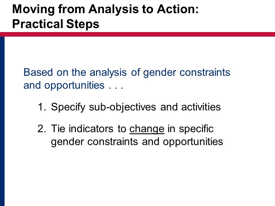 Moving from Analysis to Action: Practical Steps