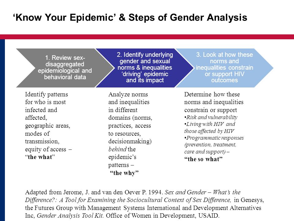 'Know Your Epidemic' & Steps of Gender Analysis