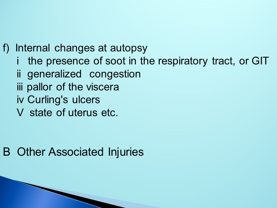 B Other Associated Injuries