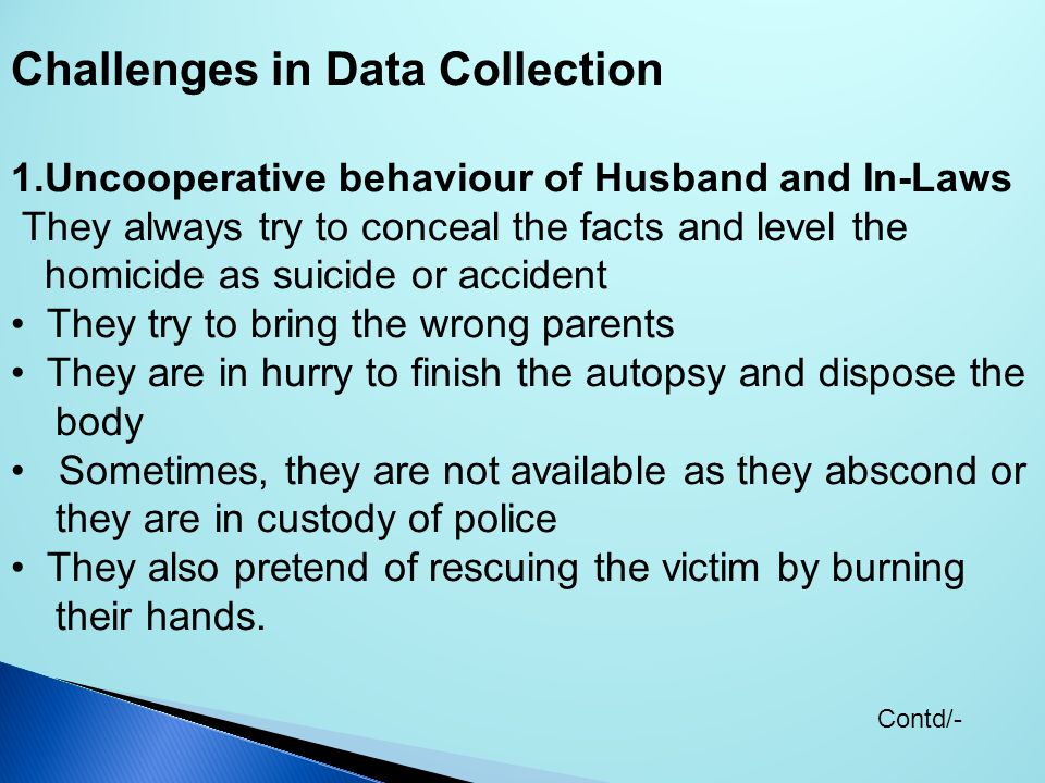 Challenges in Data Collection