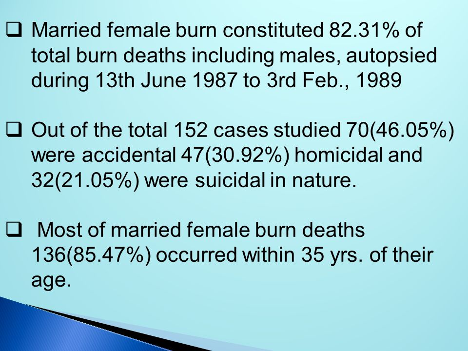 Married female burn constituted 82