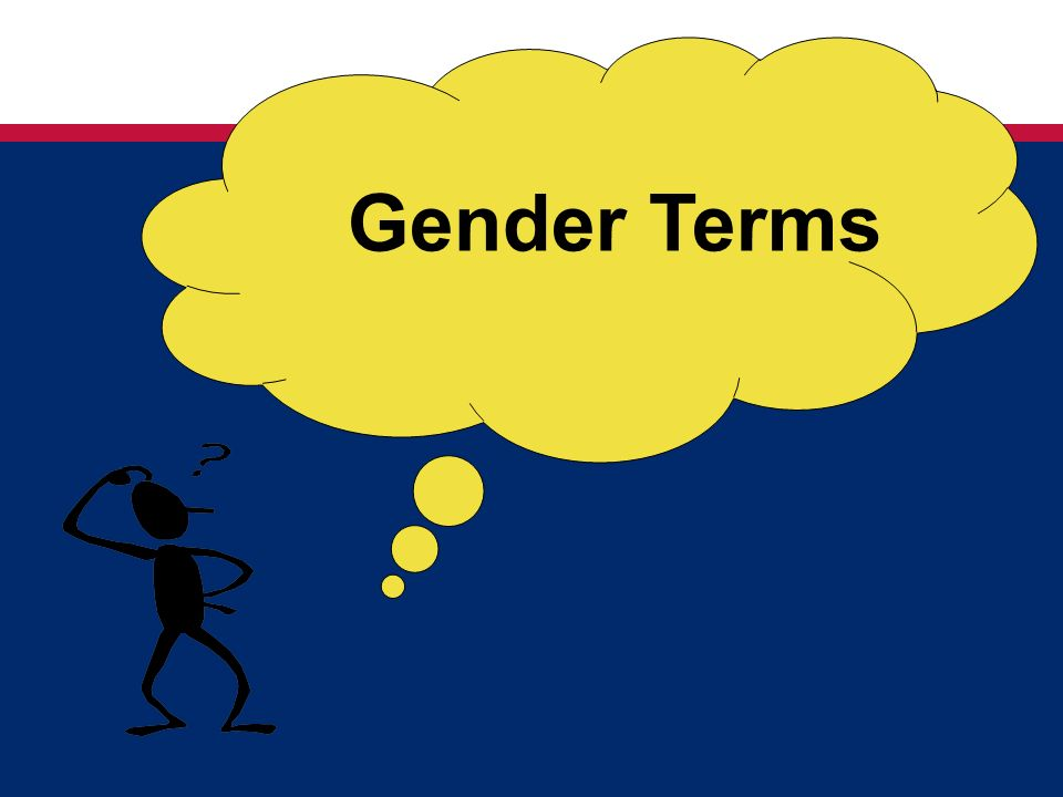 Gender Terms OPTIONAL EXERCISE—depends on timing. Exercise