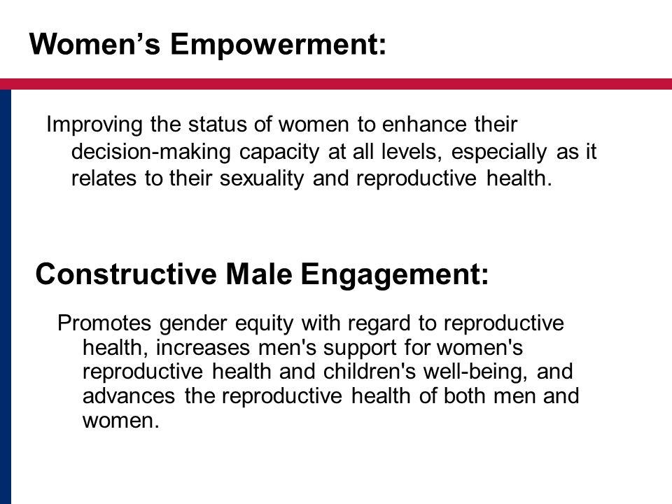 Constructive Male Engagement: