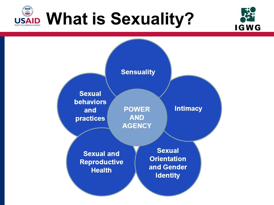 What is Sexuality Sensuality Sexual behaviors and practices Intimacy