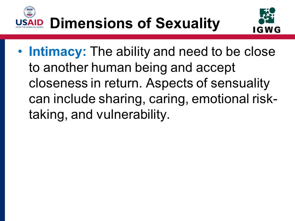Dimensions of Sexuality