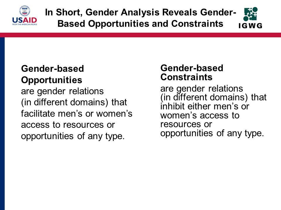 Gender-based Opportunities