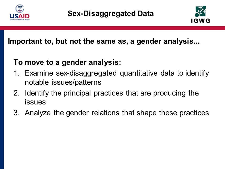 Sex-Disaggregated Data