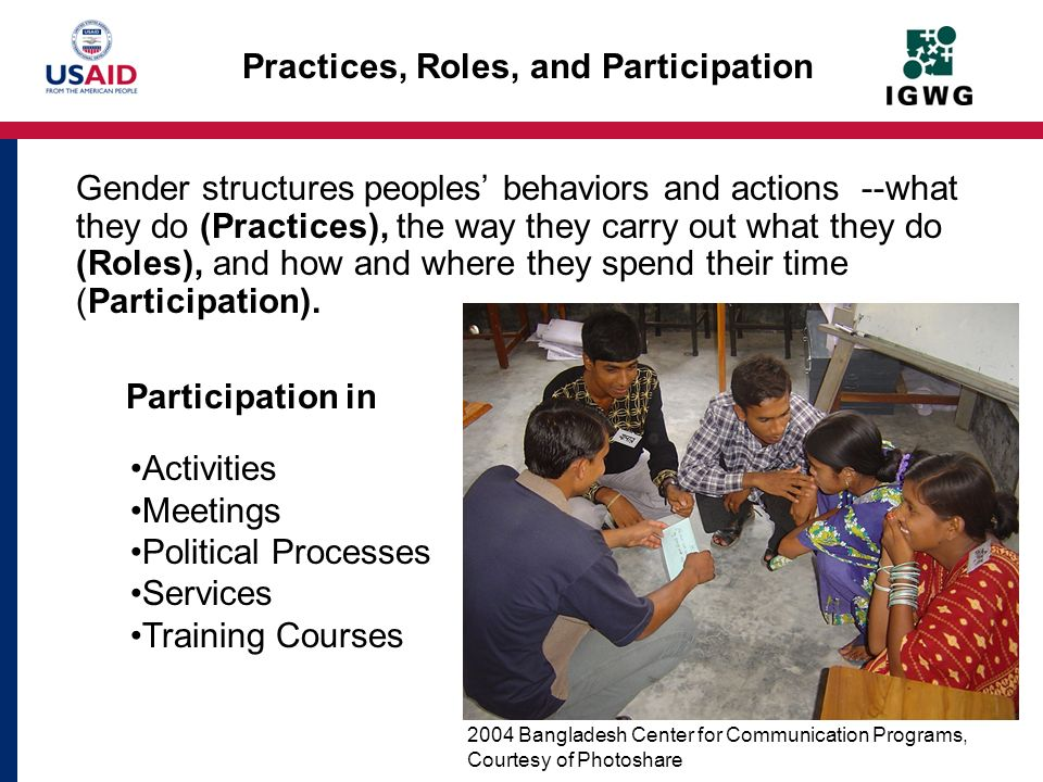 Practices, Roles, and Participation