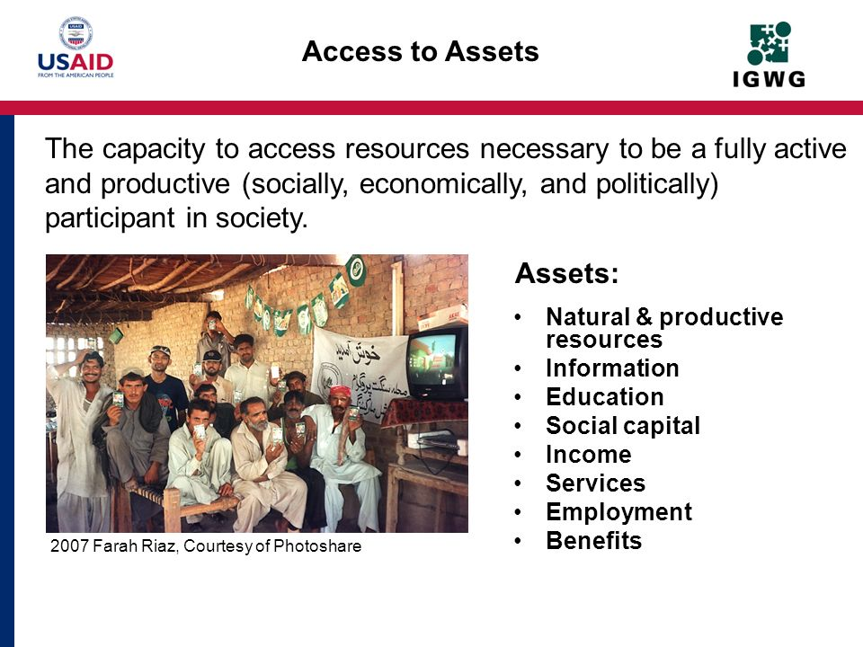 Access to Assets Assets: