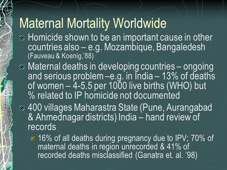 Maternal Mortality Worldwide