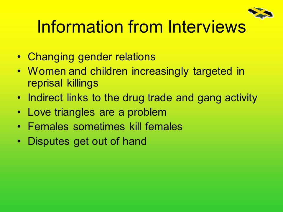 Information from Interviews