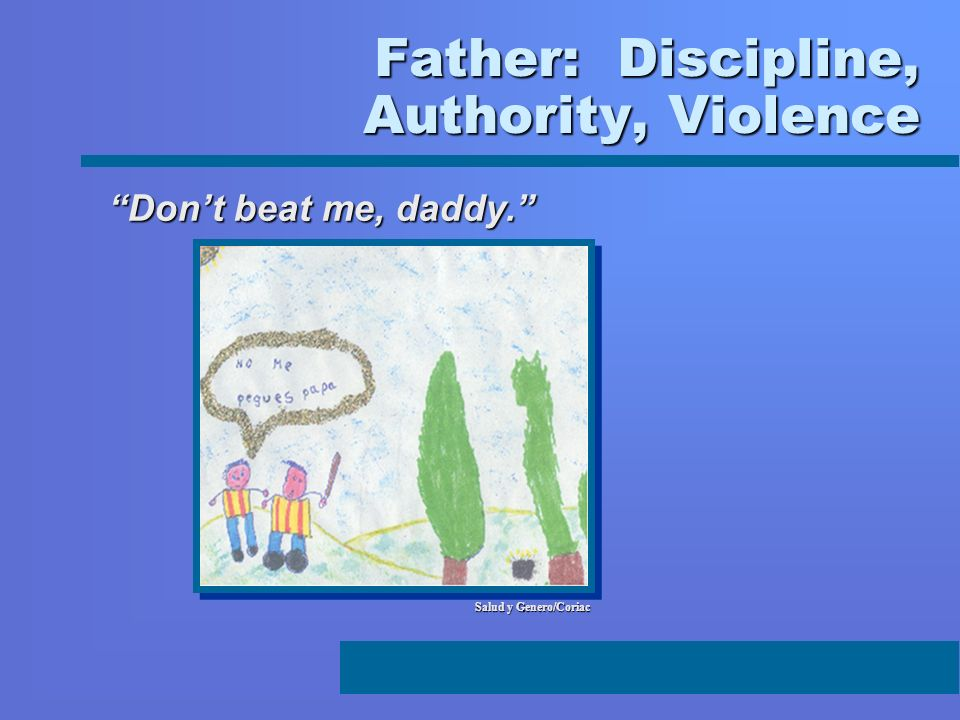 Father: Discipline, Authority, Violence