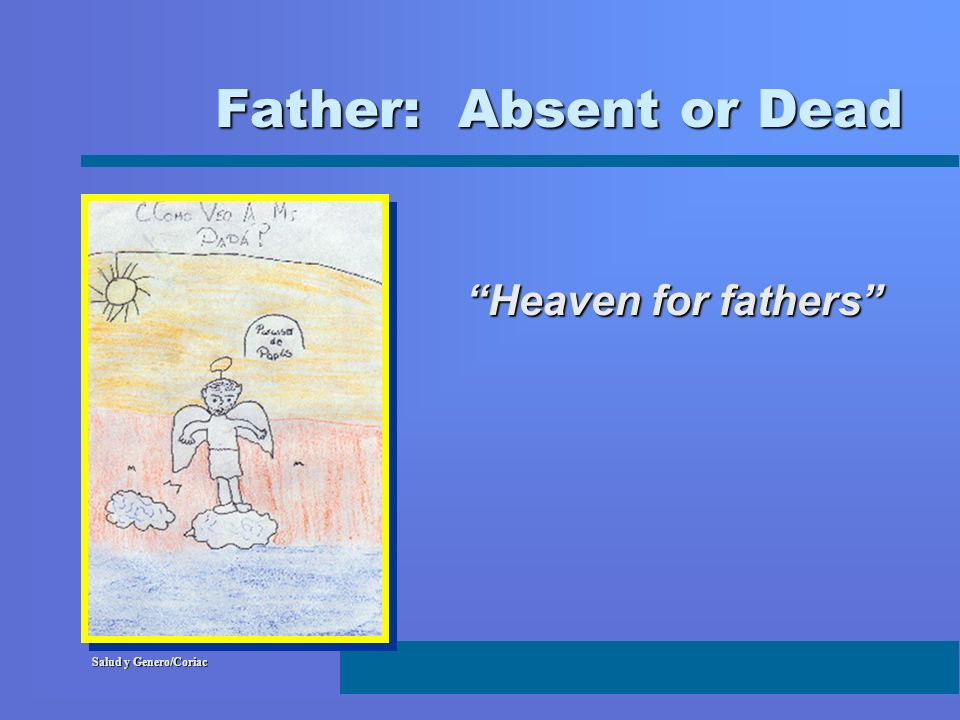 Father: Absent or Dead Heaven for fathers