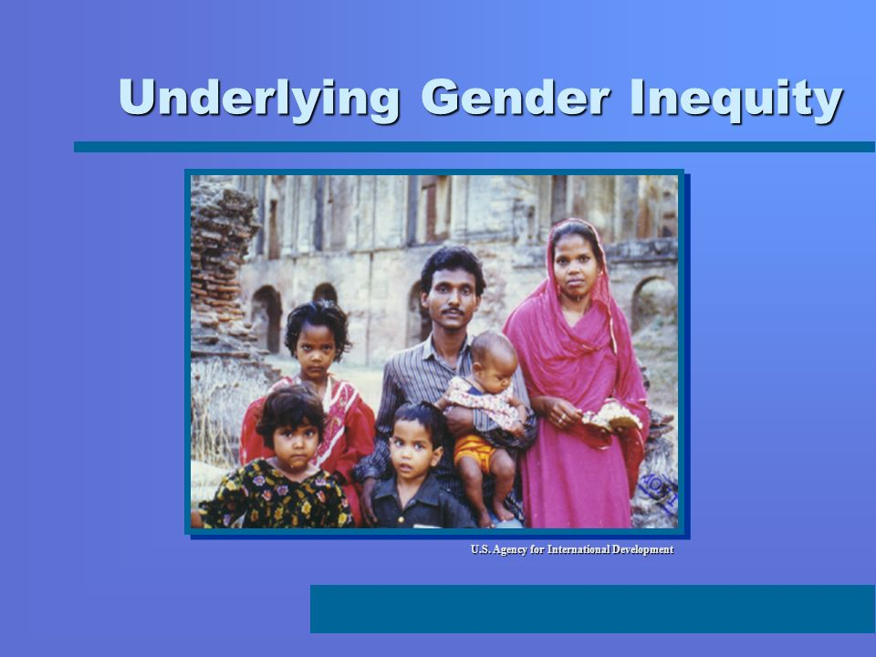 Underlying Gender Inequity