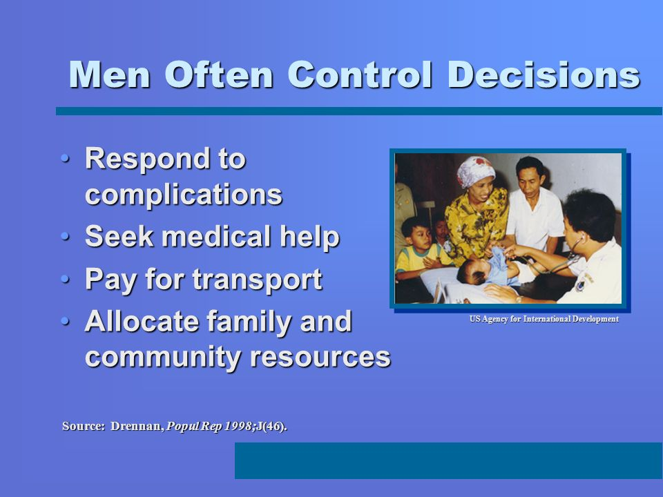 Men Often Control Decisions