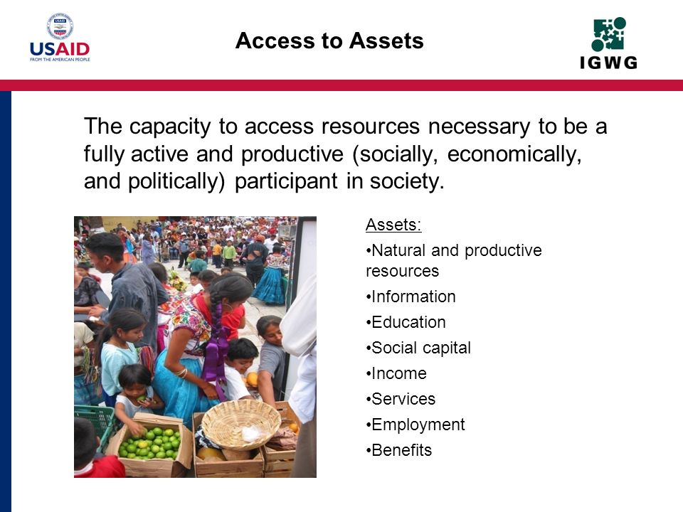 Access to Assets