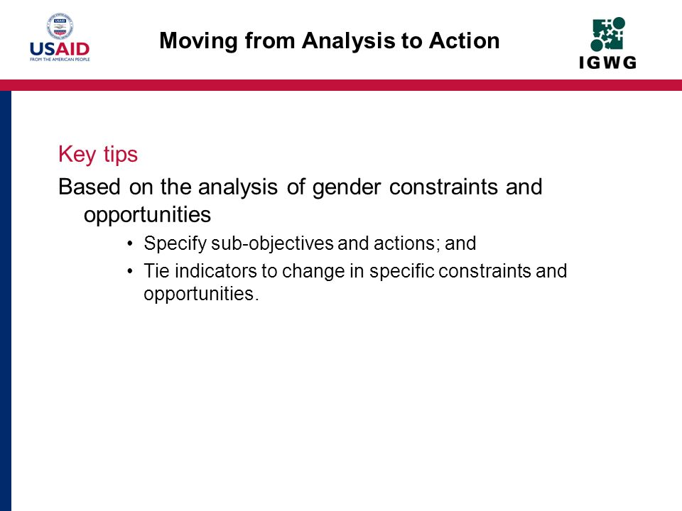 Moving from Analysis to Action