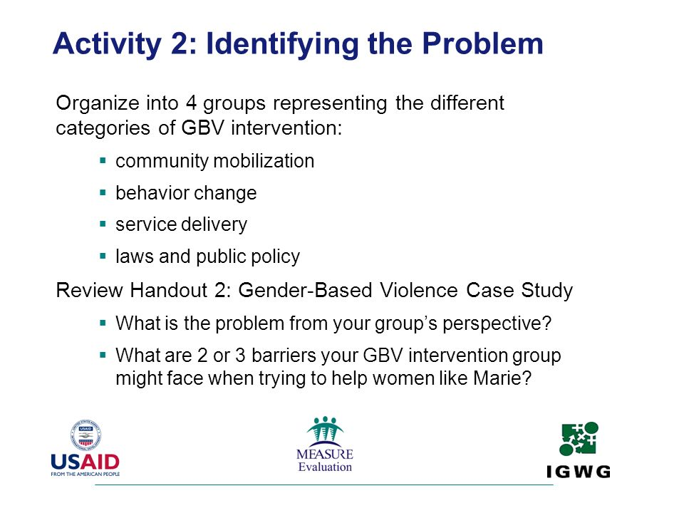 Activity 2: Identifying the Problem
