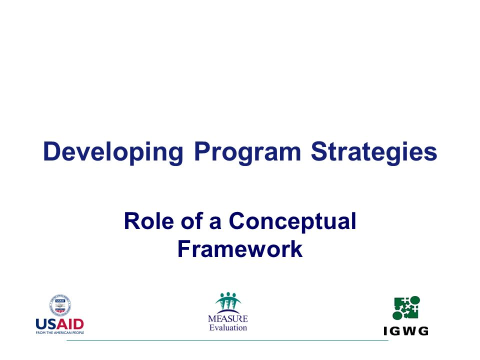 Developing Program Strategies