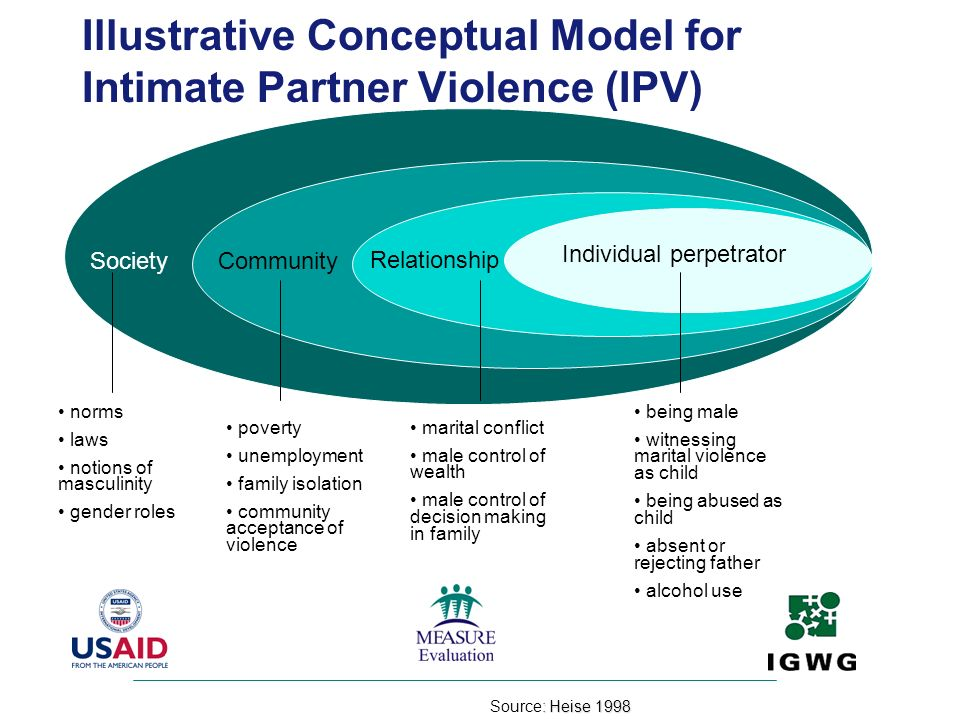 Illustrative Conceptual Model for Intimate Partner Violence (IPV)