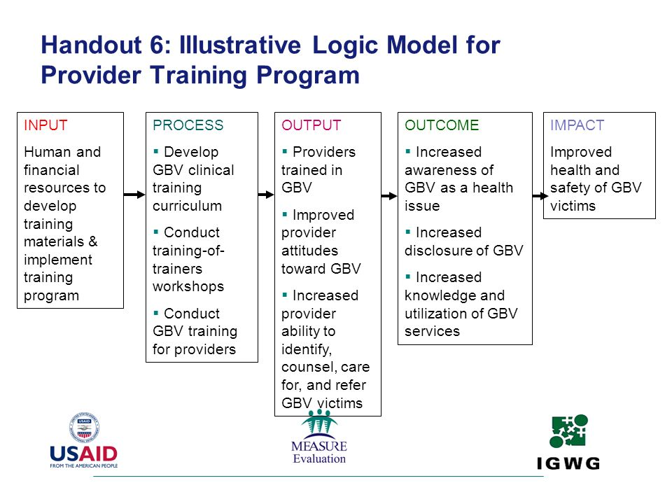 Handout 6: Illustrative Logic Model for Provider Training Program