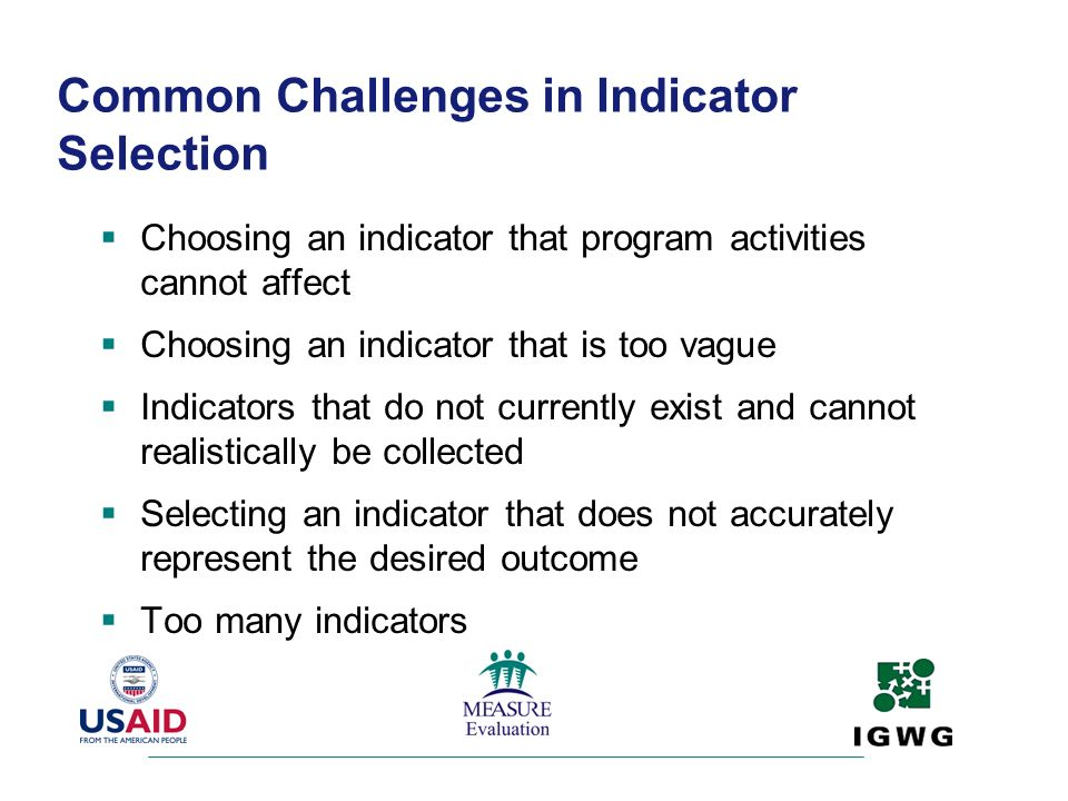 Common Challenges in Indicator Selection