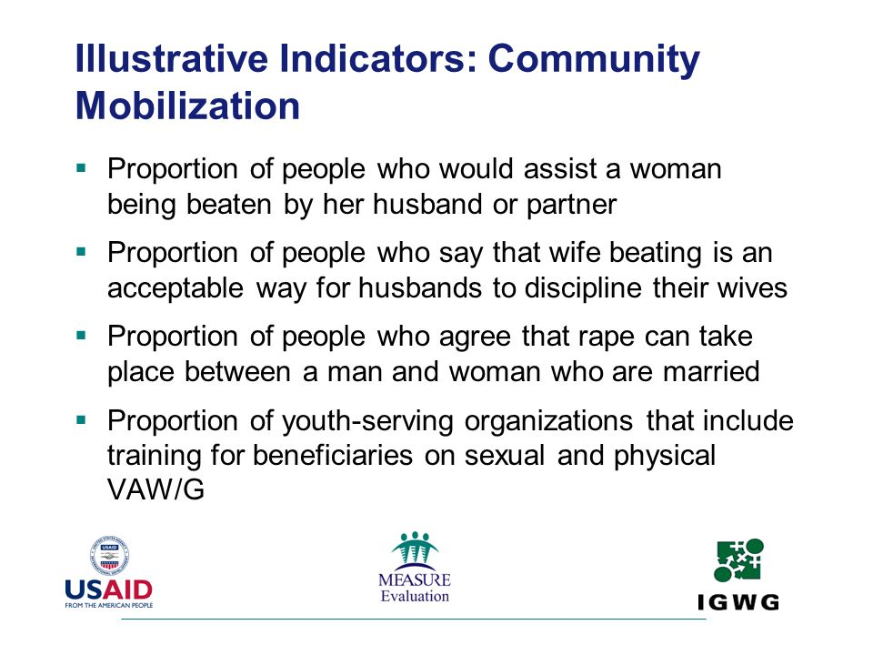 Illustrative Indicators: Community Mobilization