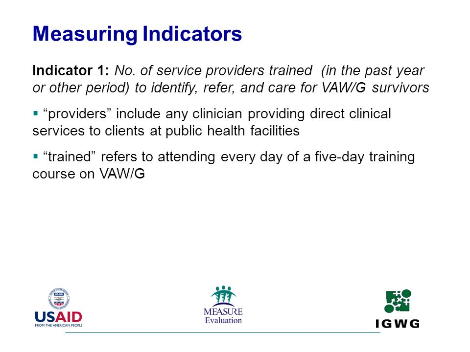 Measuring Indicators