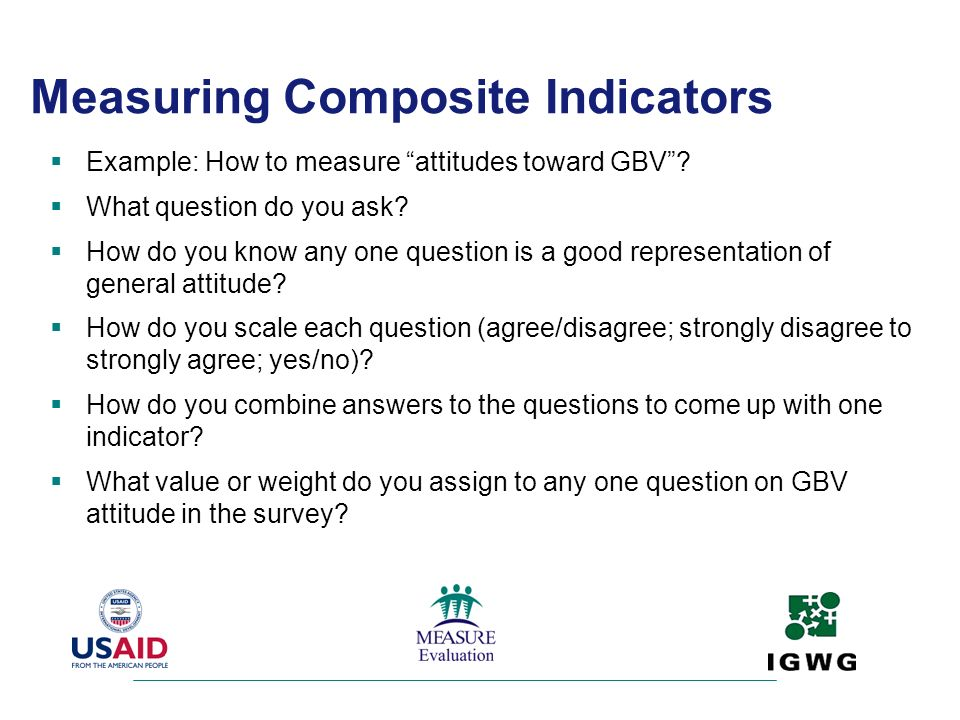 Measuring Composite Indicators