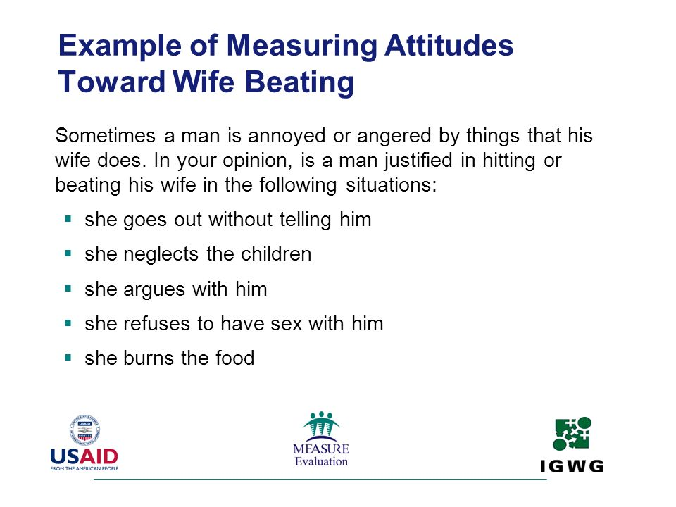Example of Measuring Attitudes Toward Wife Beating