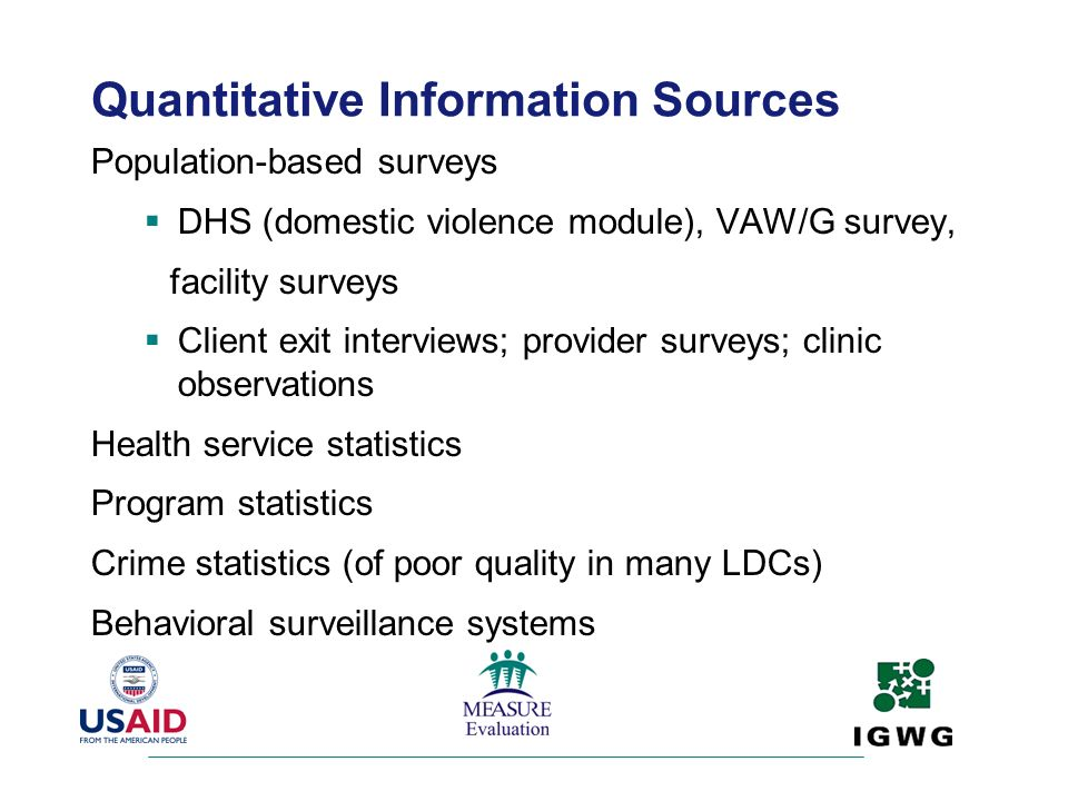 Quantitative Information Sources
