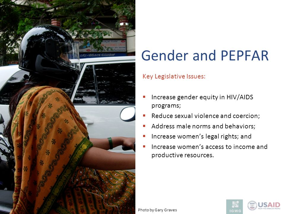 Gender and PEPFAR Key Legislative Issues: