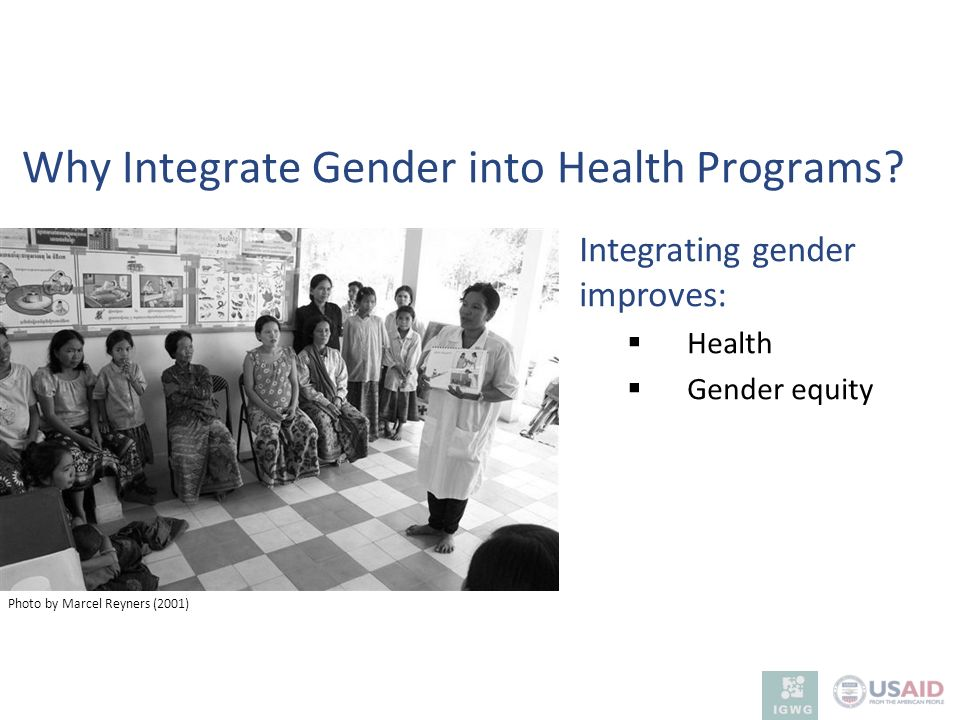 Why Integrate Gender into Health Programs