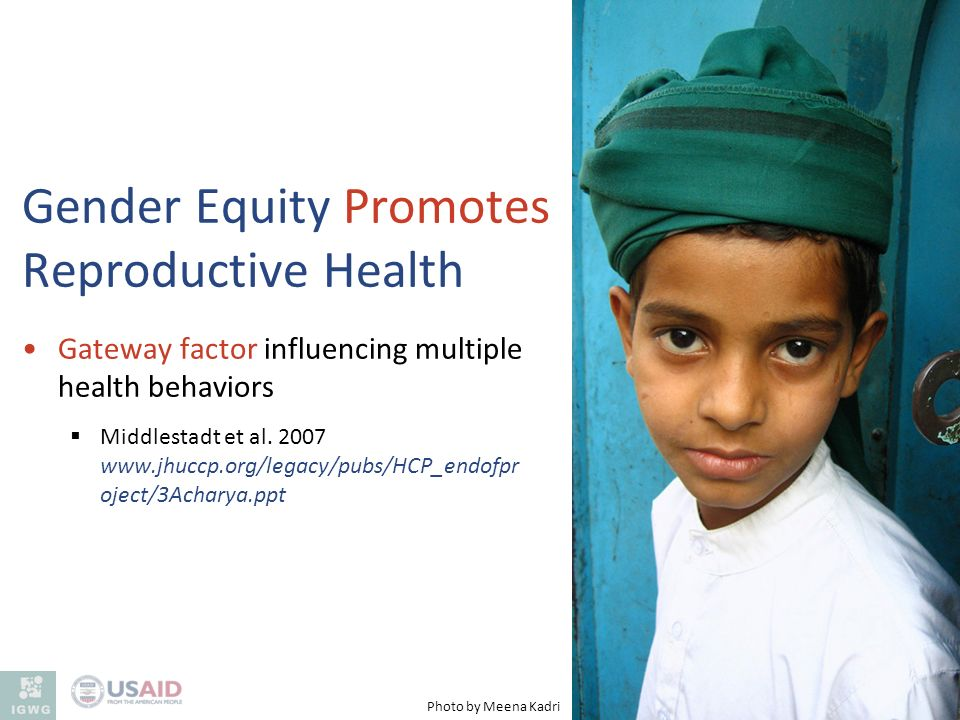 Gender Equity Promotes Reproductive Health