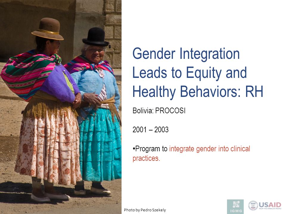 Gender Integration Leads to Equity and Healthy Behaviors: RH