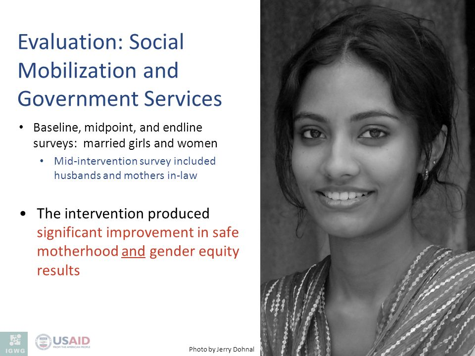 Evaluation: Social Mobilization and Government Services