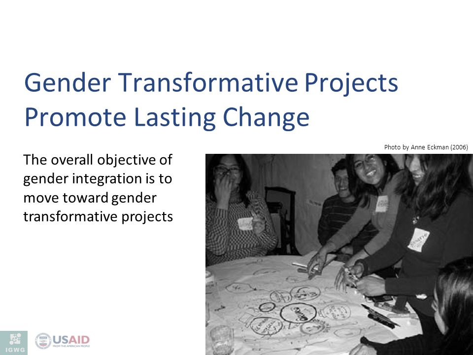 Gender Transformative Projects Promote Lasting Change