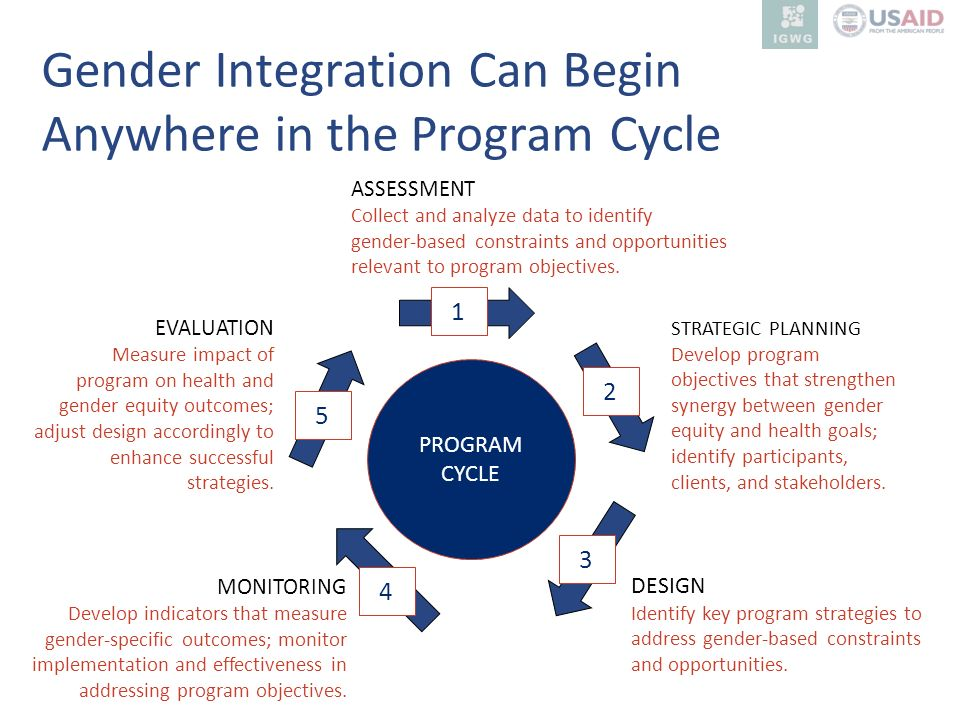 Gender Integration Can Begin Anywhere in the Program Cycle